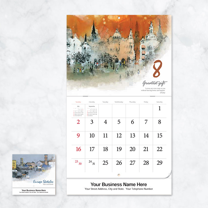 Marketing Promotional Wall Calendar 2020 Best Sale Price Lime