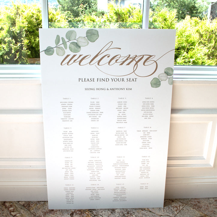 Seating Chart Wedding.Wedding Gust Seating Chart Forest
