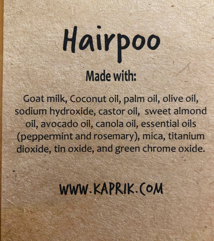 Hairpoo label