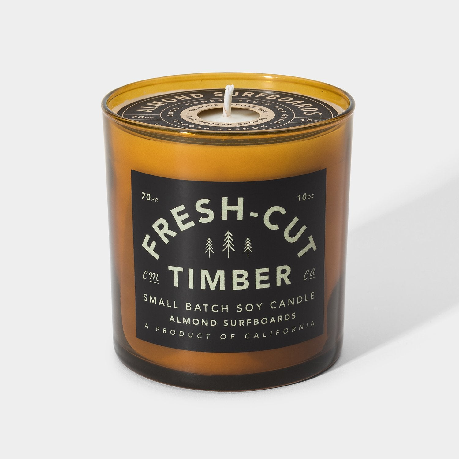 ALMOND FRESH CUT TIMBER SOY CANDLE