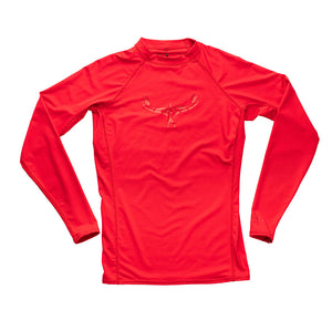 TKS KIDS SUNSHIRT TIGHT RED UV 50