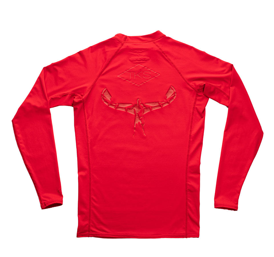 TKS Surf Rashguard - Red LS