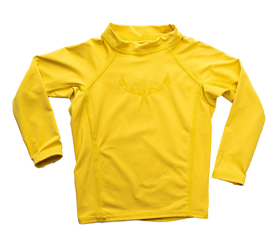 TKS MIAMI KIDS SUNSHIRT TIGHT YELLOW UV 50