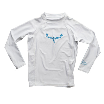 TKS MIAMI KIDS SUNSHIRT TIGHT WHITE/BLUE UV 50