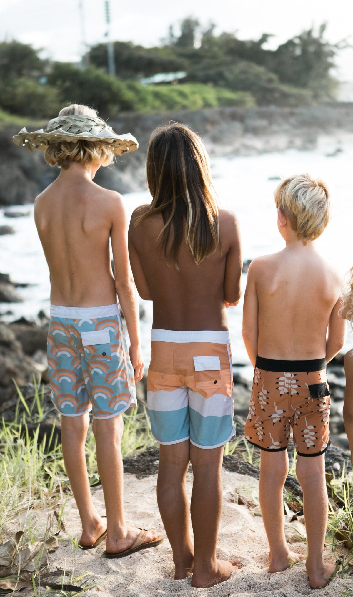 OF ONE SEA RAINBOW RETRO SURF TRUNKS