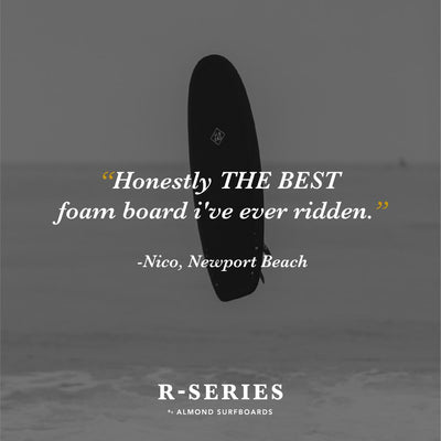 "ALMOND SURFBOARDS R-SERIES 5'4"" SECRET MENU /SURFRIDER EDITION"