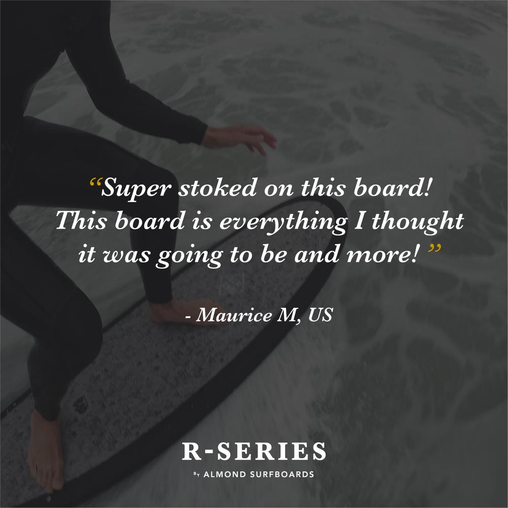 "ALMOND SURBOARDS R-SERIES 5'4"" SECRET MENU / CHART"