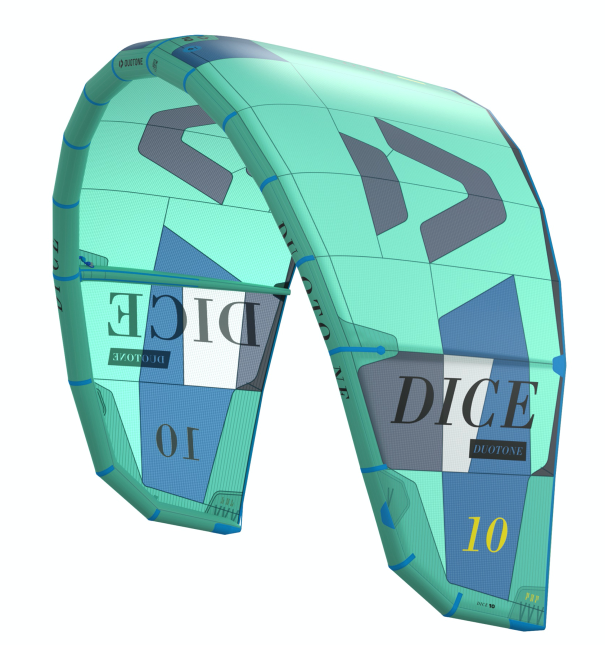 Duotone Dice 2021 kite in Green size 10 mt, the best freestyle/surf kite in the market.