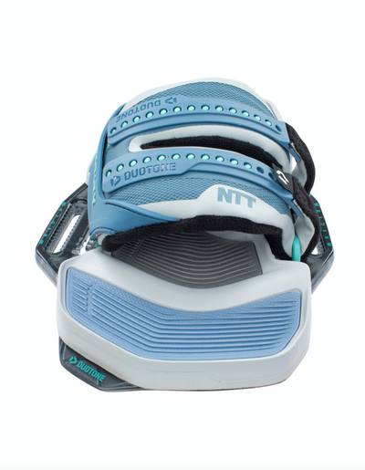 Duotone 2021 NTT footstraps front view. New color grey and blue
