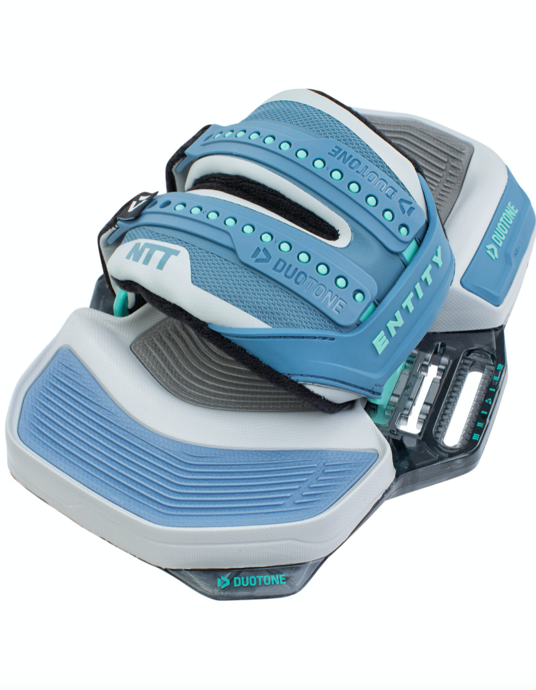 Side view of Duotone NTT footstraps 2021, new colors are grey and blue