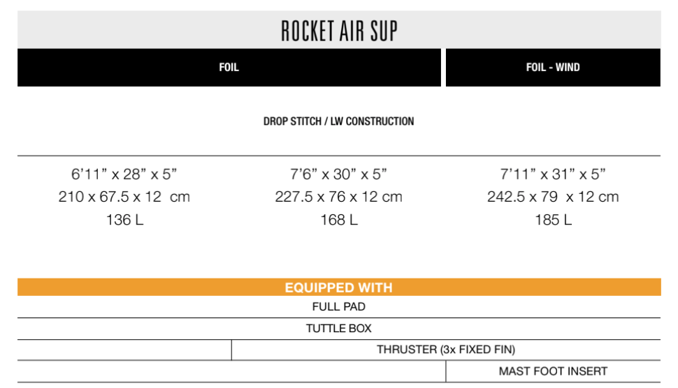 F-ONE ROCKET AIR SUP