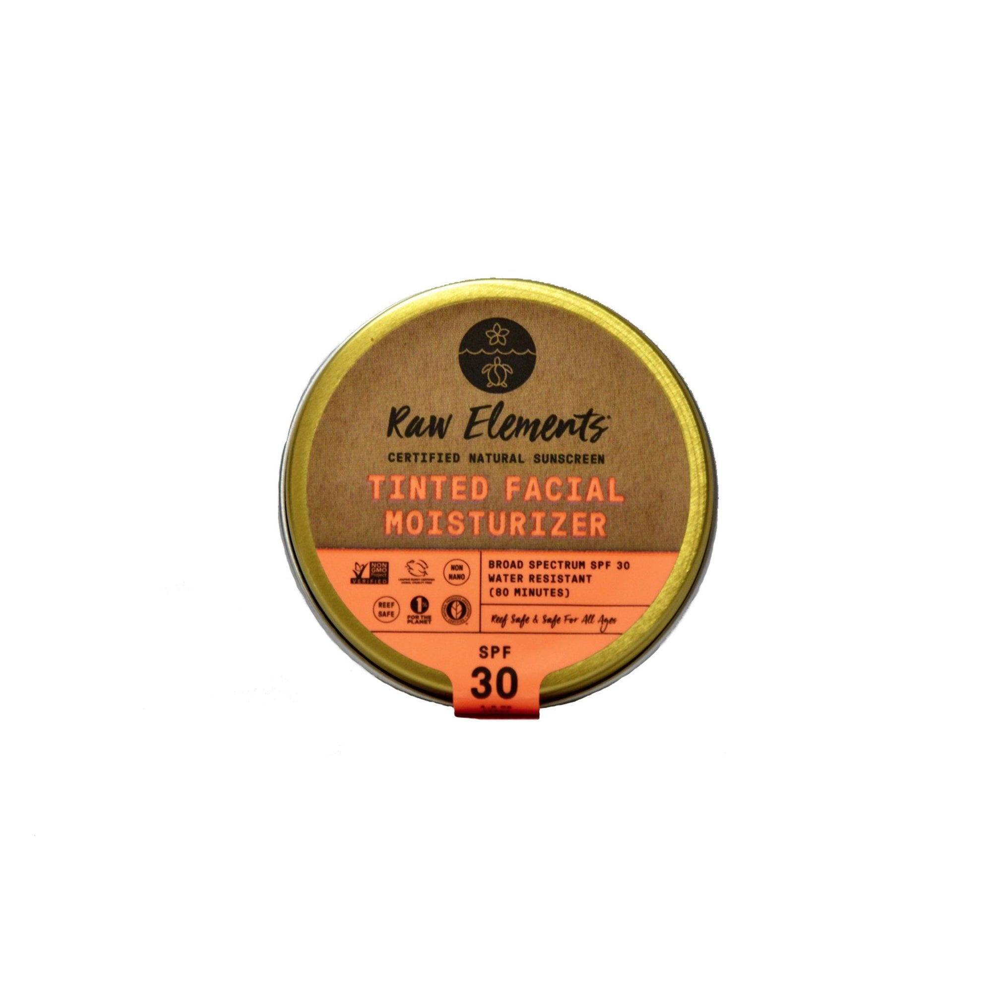 RAW ELEMENTS TINTED FACE MOISTURIZER 30 + PLASTIC FREE
