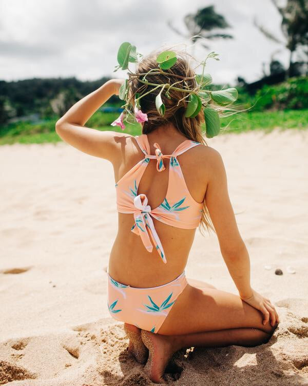 GIRLS REVERSIBLE BIRD OF PARADISE BIKINI