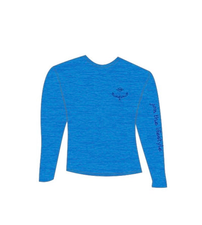 TKS Men's Loosefit Sunshirt Heather Blue
