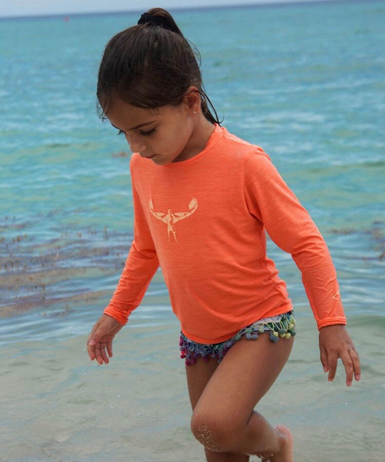 TKS MIAMI KIDS SUNSHIRT LOOSE FIT CORAL UPF 50