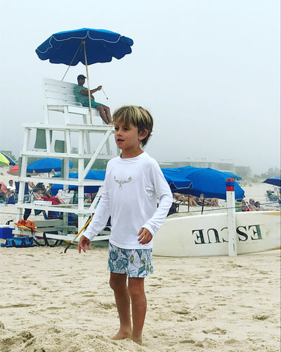 TKS KIDS SUNSHIRT TIGHT WHITE/KHAKI UV 50