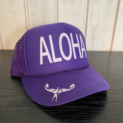 TKS KIDS FOAM ALOHA TRUCKER HAT PURPLE