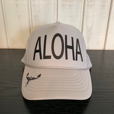 TKS KIDS FOAM ALOHA  TRUCKER HAT  GREY