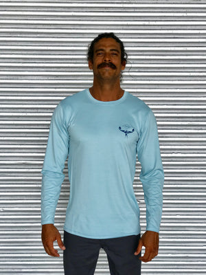 TKS HYBRID PRO  SUNSHIRT L/S LIGHT BLUE