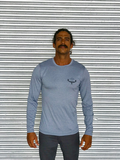 TKS Antix Sunshirt - Grey Heather LS