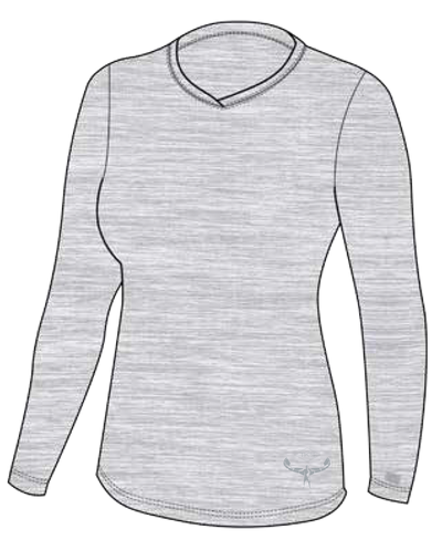 TKS WOMEN'S MALIBU SUNSHIRT L/S GREY UV 50