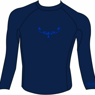 TKS MEN'S TIGHT FIT RASHGUARD NAVY/ROYAL UV 50