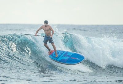 2019 Starboard Blend Stan up paddle boarder surfing with great handling