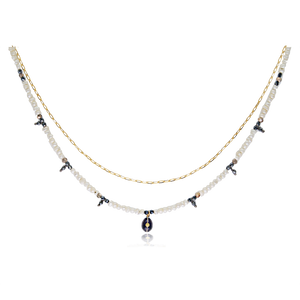 Collier femme Pearly Perle / brune