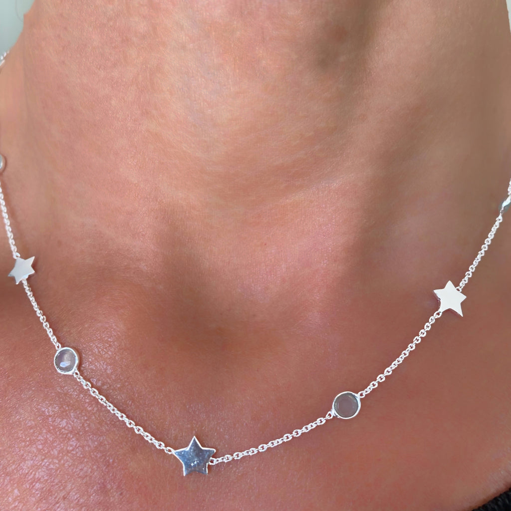 Collier Harmony Plaqué or Argent925 Stars
