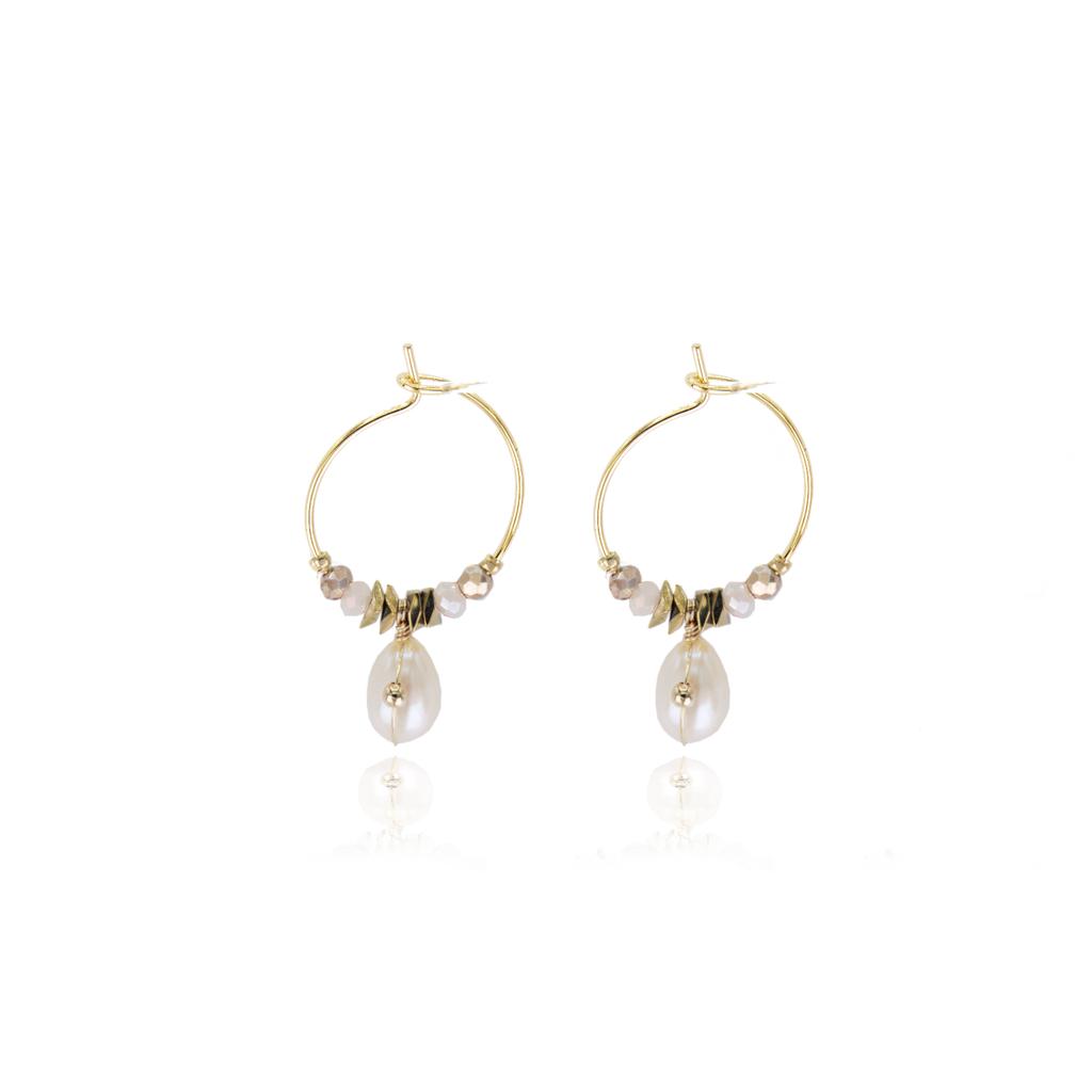 Boucles d'oreilles Pearly Blanche