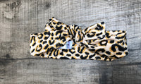 Tie Top Headbands - Leopard