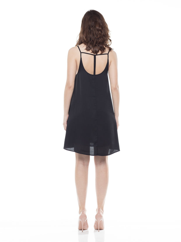 Black Dress  A-line Mini Dress - Why Dress