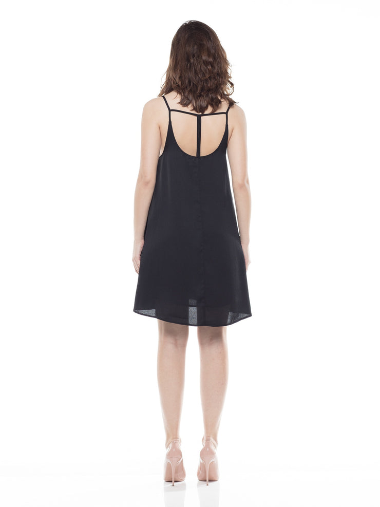 Black Dress  A-line Mini Dress | Why Dress