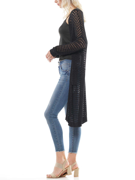 Long sleeve jersey knit cardigan
