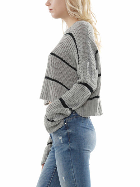 Striped crop knit