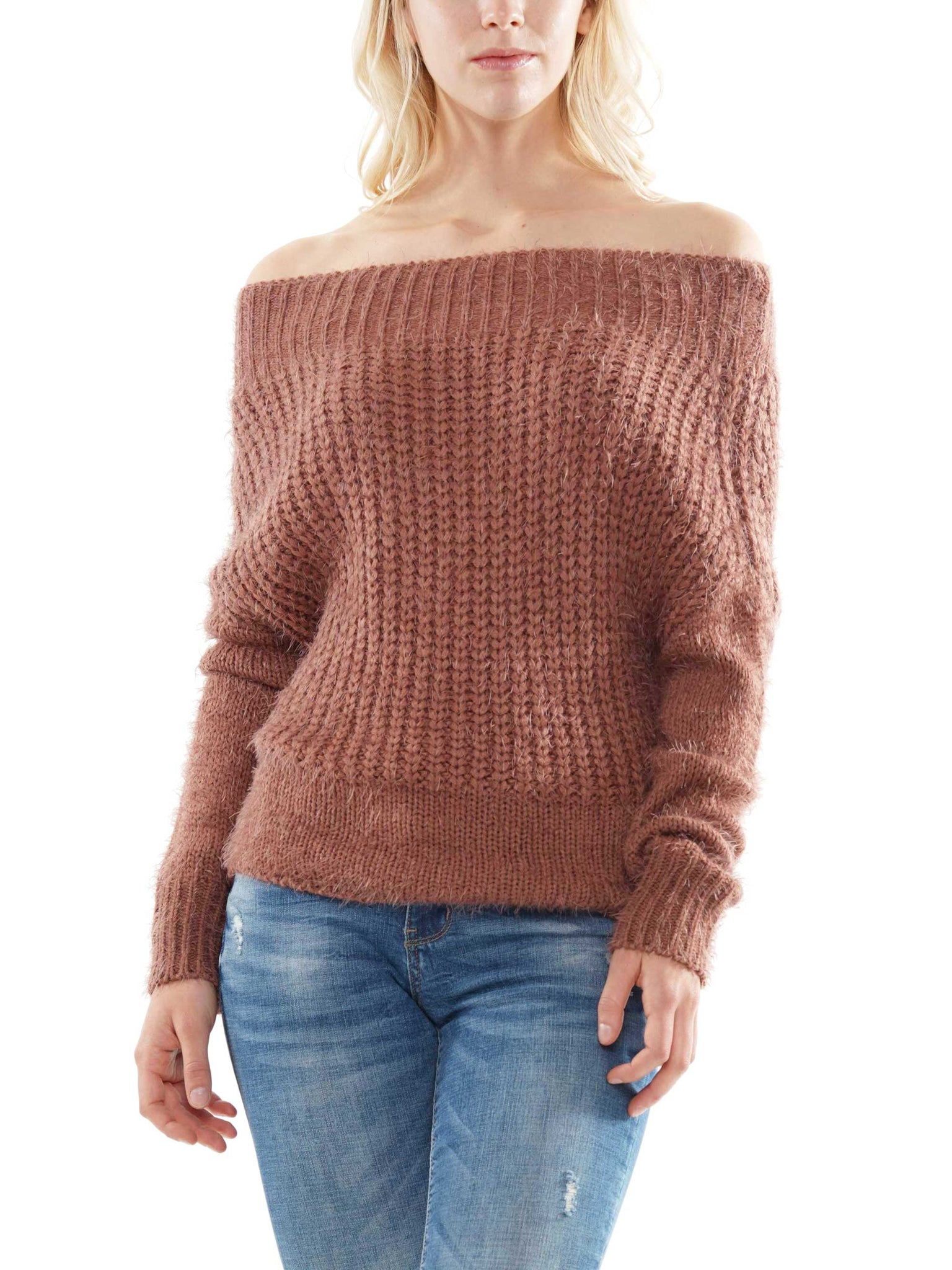 Off-shoulder sweater