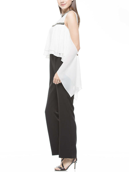 Simple detail jumpsuit