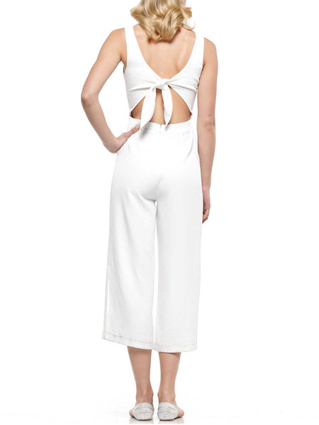 Tie at back jumpsuit