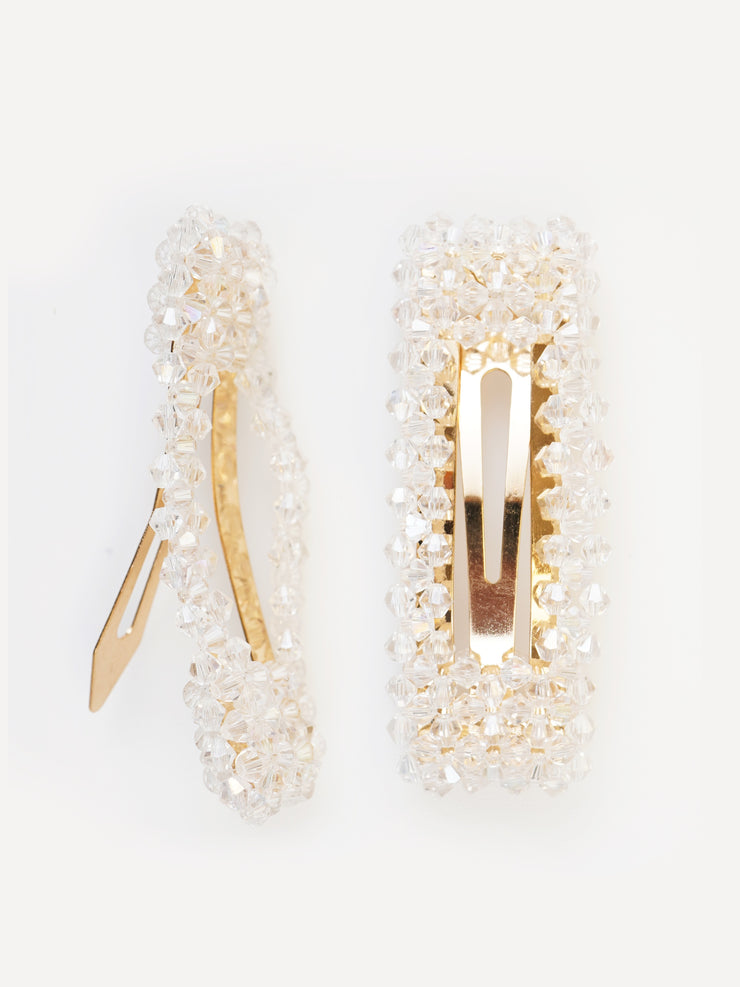 SQUARE TRANSPARENT CYSTAL HAIR CLIP | Why Dress