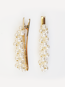 GOLD AND PEARL HAIR PIN | Why Dress