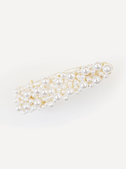 SQUARE GOLD PEARL HAIR CLIP | Why Dress