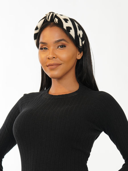 KNITTED ZEBRA HEADBAND | Why Dress