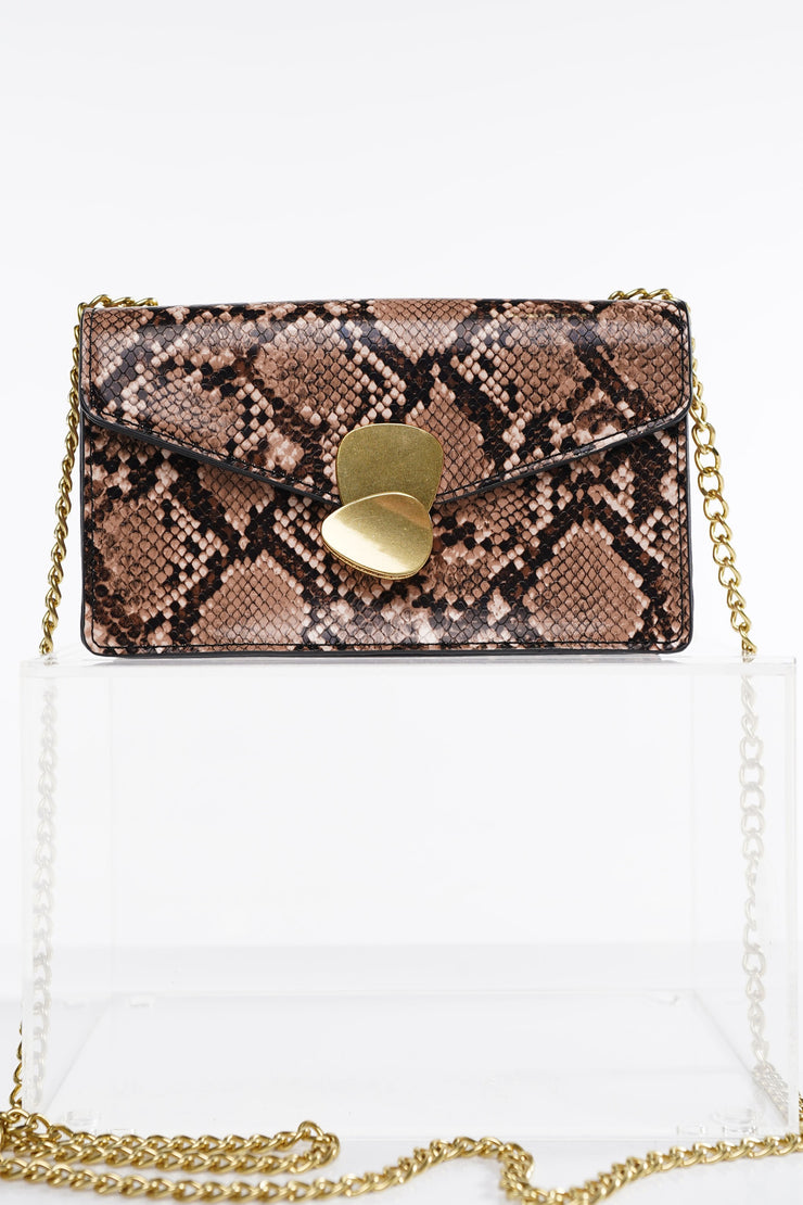 SERPENTINE LEATHER BAG | Why Dress