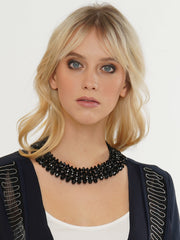 CLEOPATRA BLACK CRYSTAL NECKLACE | Why Dress