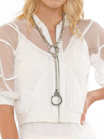 TWO HANDCUFFS WITH CHAIN NECKLACE | Why Dress