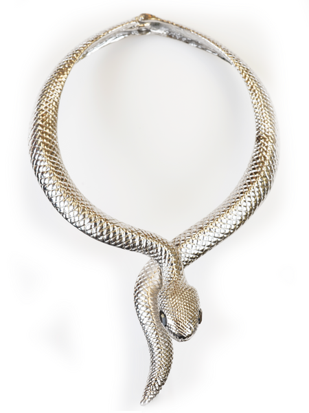 SNAKE ROUND NECKLACE | Why Dress