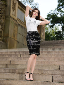 SEQUIN PEARL MINI SKIRT | Why Dress