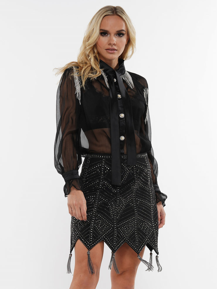 HEATSTONES FRINGE SKIRT | Why Dress