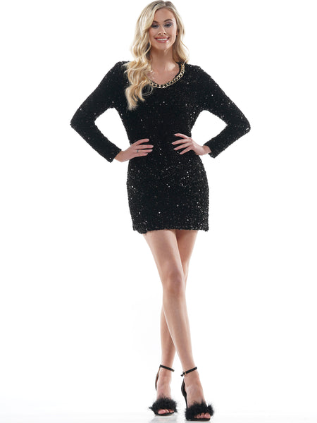 SEQUIN BODYCON MINI DRESS | Why Dress