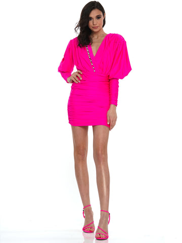 PUFF SLEEVE RUFFLE PEPLUM MINI DRESS | Why Dress